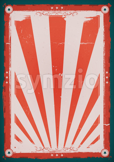Fourth Of July Vintage Background Poster Stock Vector