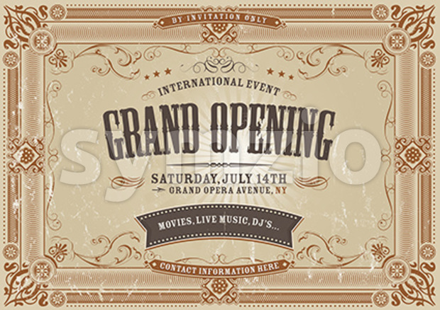 Vintage Horizontal Invitation Background Stock Vector