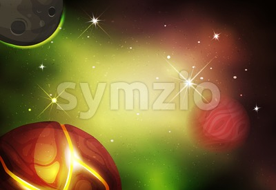 Scifi Space Background For Ui Game Stock Vector