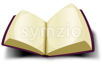 Opened Big Book Icon With Blank Pages Stock Vector