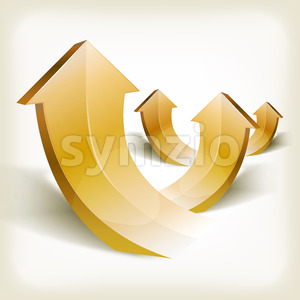 Abstract Golden Rising Arrows Stock Vector