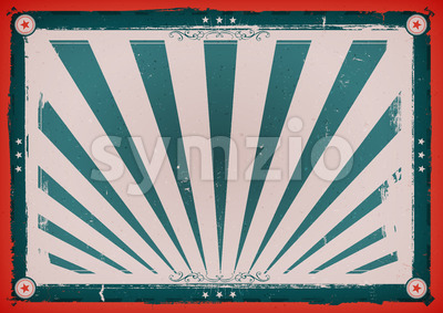 Independence Day Vintage Horizontal Poster Stock Vector
