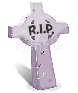 Cartoon Christian Tombstone With RIP Stock Vector