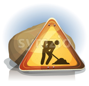 Men At Work Road Sign Stock Vector