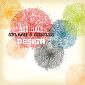 Abstract Hand Drawn Circles And Splashes Design Stock Vector