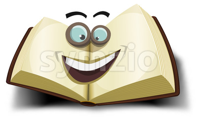 Big Book Character Icon Stock Vector