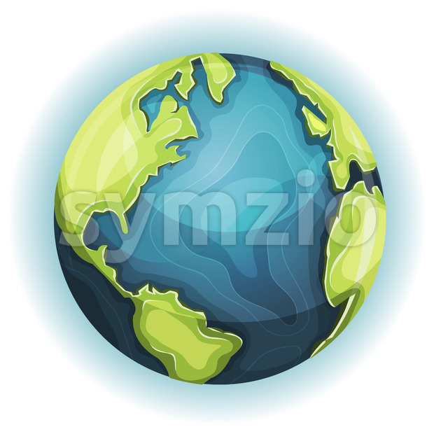 Cartoon Earth Planet Stock Vector