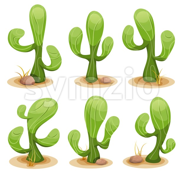 Mexican Cactus Set Stock Vector