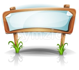 Summer Or Spring Country Wood Sign Stock Vector