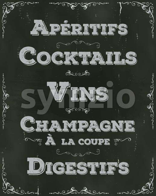 French Restaurant Beverage Background Stock Photo