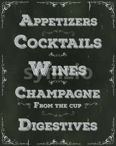 Restaurant Drinks And Beverage Background Stock Vector