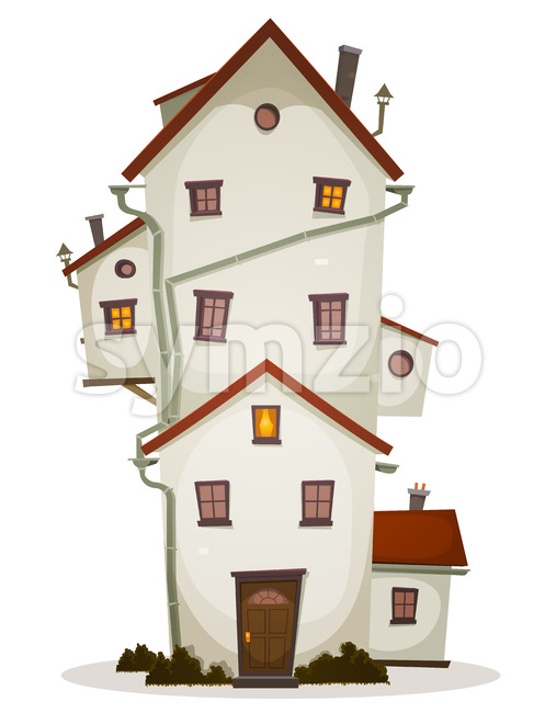 Funny Big House Stock Vector