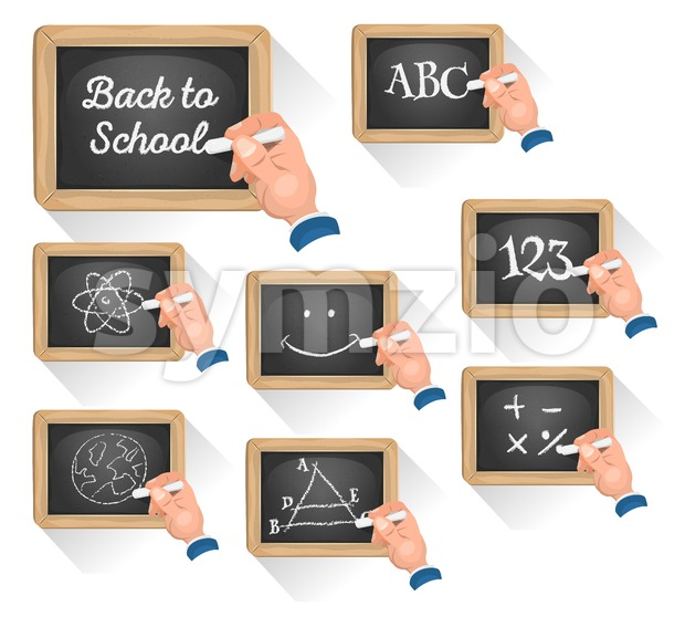 Chalkboard Signs For School Reentry Stock Vector