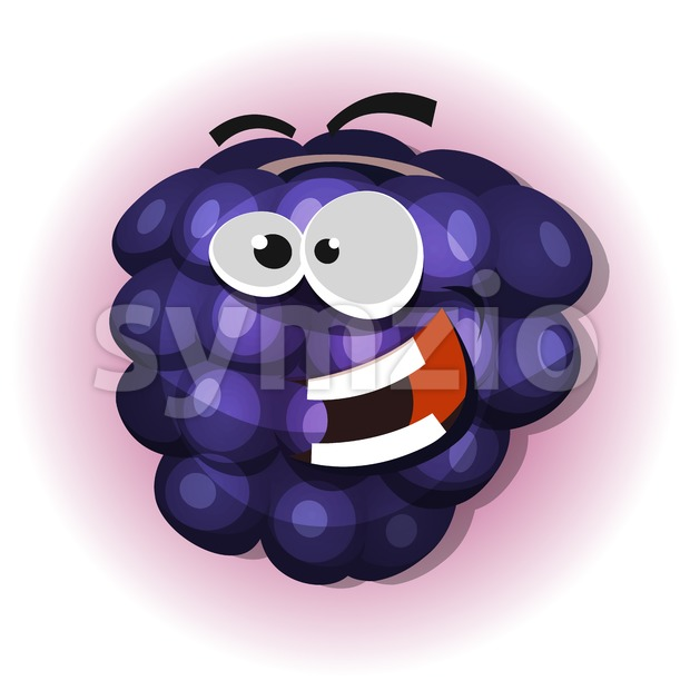 Funny Blackberry Character For Jelly Label Stock Vector