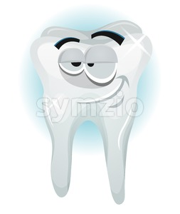 Happy Tooth Character Smiling Stock Vector