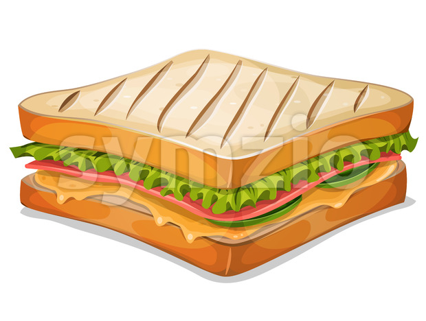 French Sandwich Icon Stock Vector