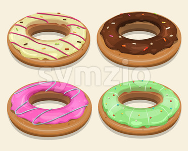 Fast Food Donuts Stock Vector