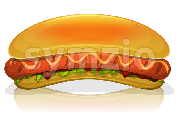 Hot Dog Burger Icon Stock Vector