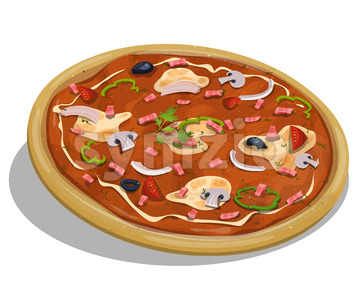 Italian Pizza Stock Vector