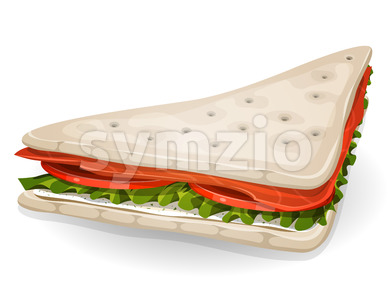 Swedish Sandwich Icon Stock Vector