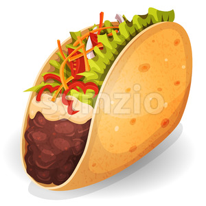 Mexican Tacos Icon Stock Vector