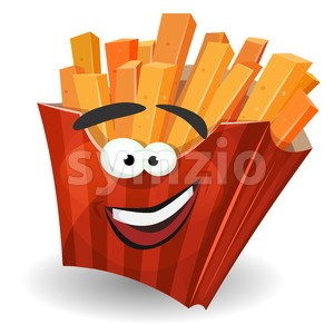 French Fries Mascot Character Stock Vector