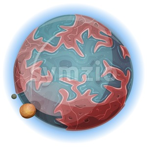 Cartoon Alien Earth Planet Stock Vector