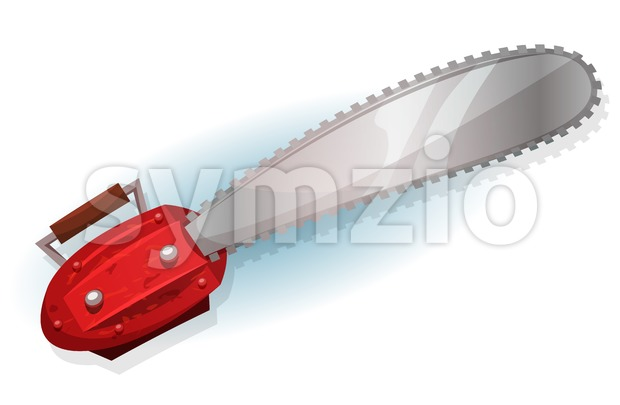 Lumber Chainsaw Stock Vector