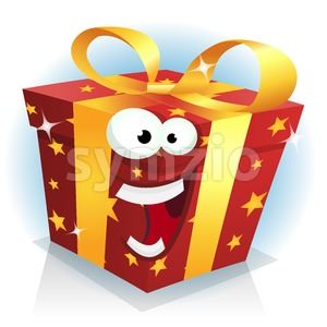 Christmas And Birthday Gift Box Character Stock Vector