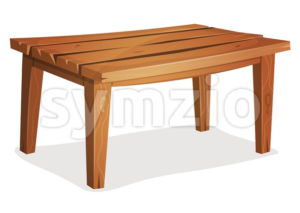 Cartoon Wood Table Stock Vector