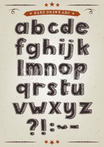 Hand Drawn Alphabet Set Stock Vector