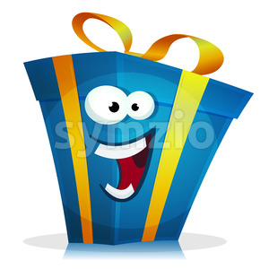 Birthday Gift Character Stock Vector