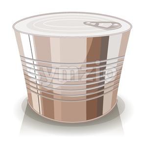 Cartoon Food Tin Can Stock Vector