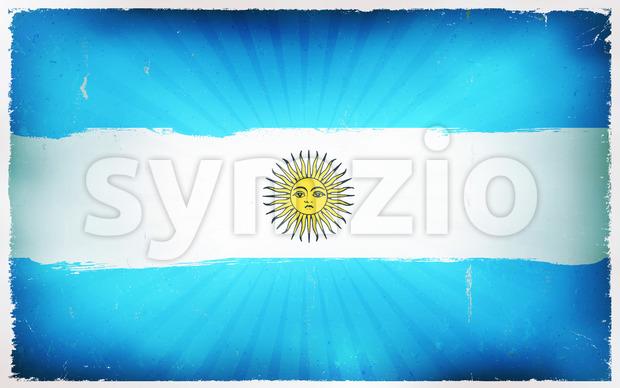 Vintage Argentina Flag Poster Background Stock Vector