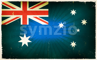 Vintage Australia Flag Poster Background Stock Vector