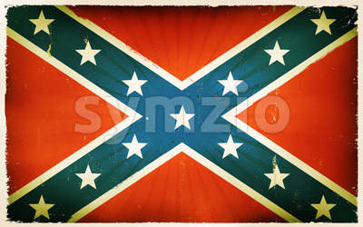 Vintage American Confederate Flag Poster Background Stock Vector