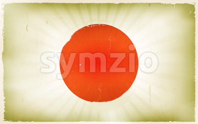 Vintage Japan Flag Poster Background Stock Vector