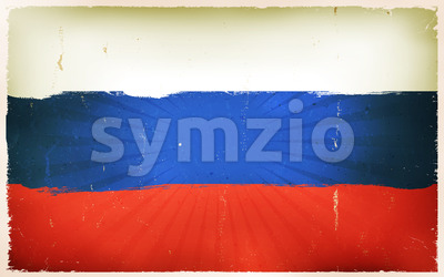 Vintage Russian Flag Poster Background Stock Vector