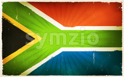 Vintage South Africa Flag Poster Background Stock Vector