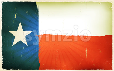 Vintage American Texas Flag Poster Background Stock Vector