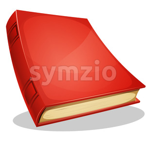 Red Book Isolated On White Stock Vector