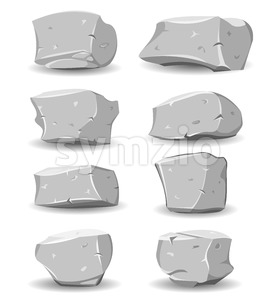 Boulders And Rocks Set Stock Vector
