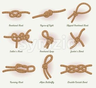 Rope Knots Set Stock Vector