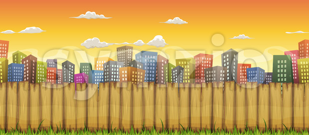 Seamless City Landscape Background Stock Vector