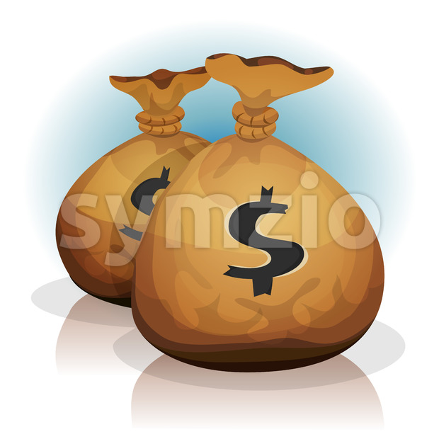 Dollar Bags Stock Vector