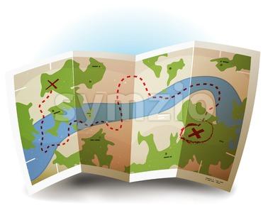 Earth Map Icon Stock Vector