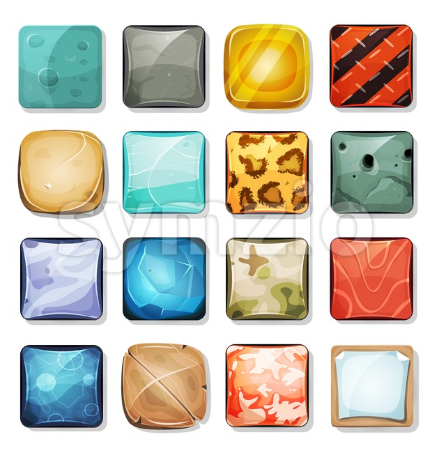 Buttons And Icons Set For Mobile App And Game Ui Stock Vector