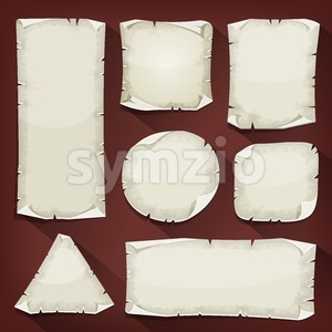 Old Torn Paper Set Stock Vector