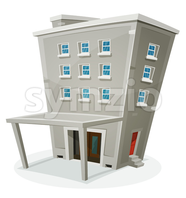 Building House With Offices Or Apartments Stock Vector
