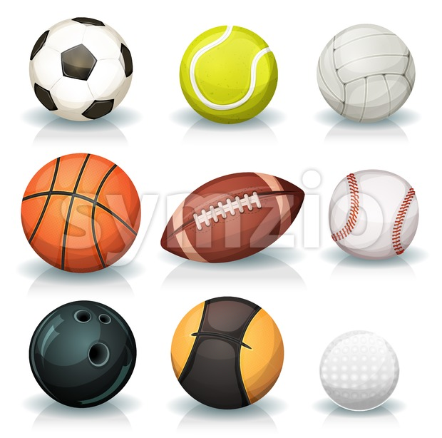 Sports Balls Set Stock Vector